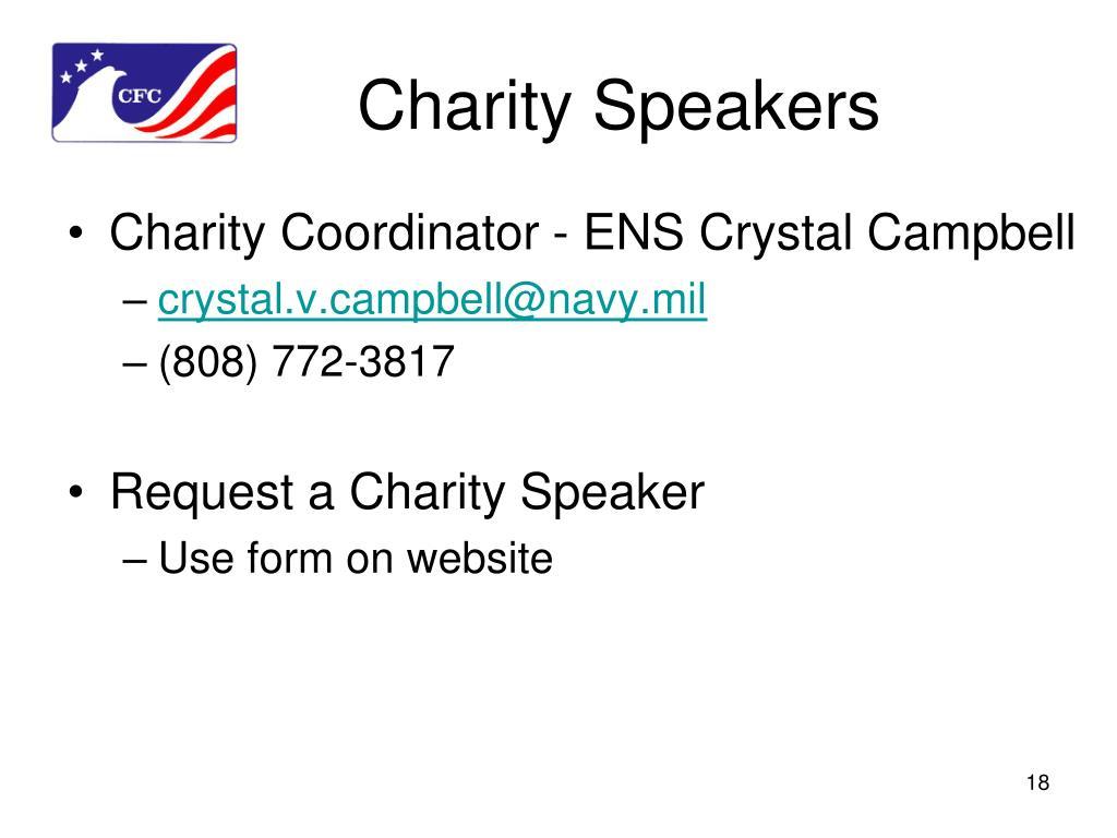 Charity Speakers