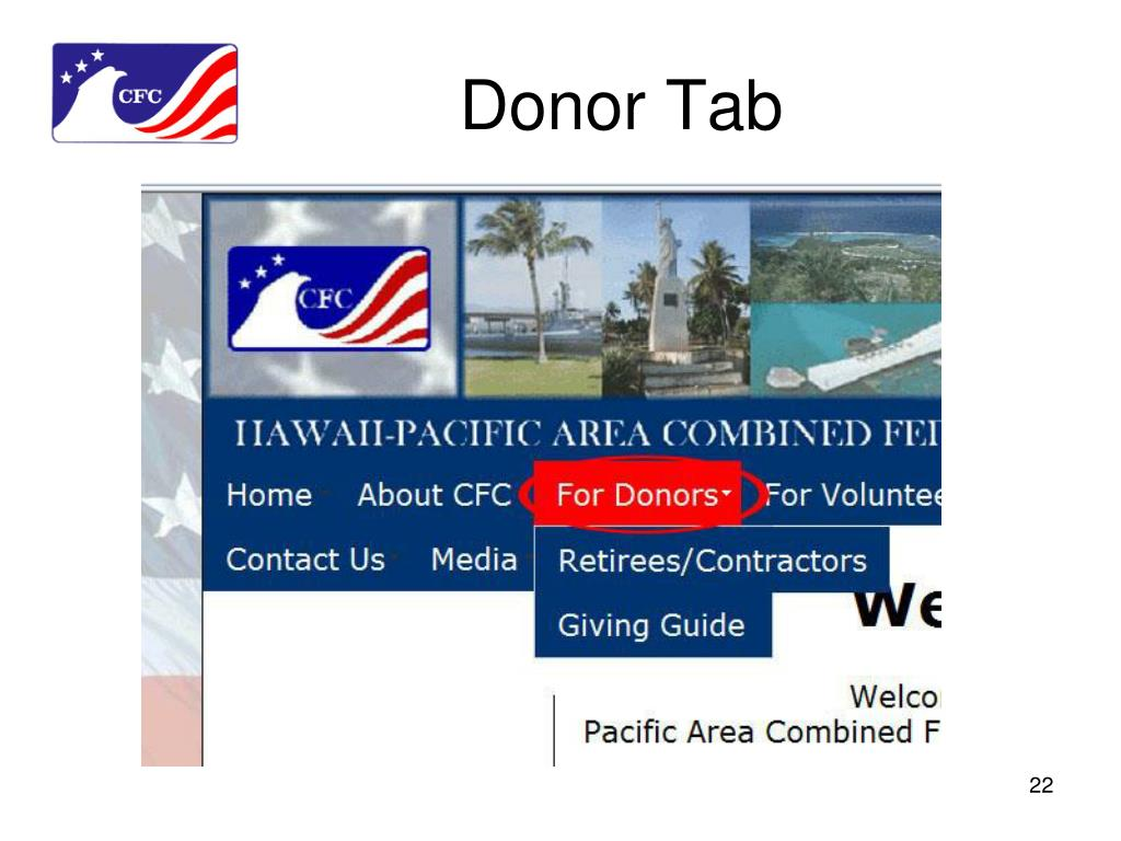 Donor Tab