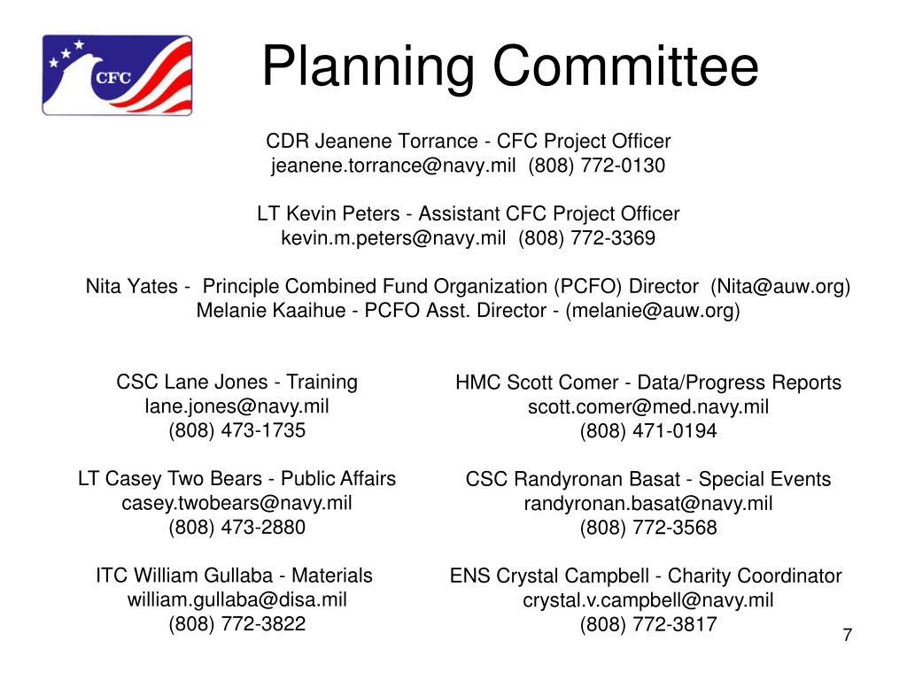 CDR Jeanene Torrance - CFC Project Officer