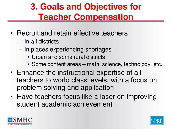 3. Goals and Objectives for