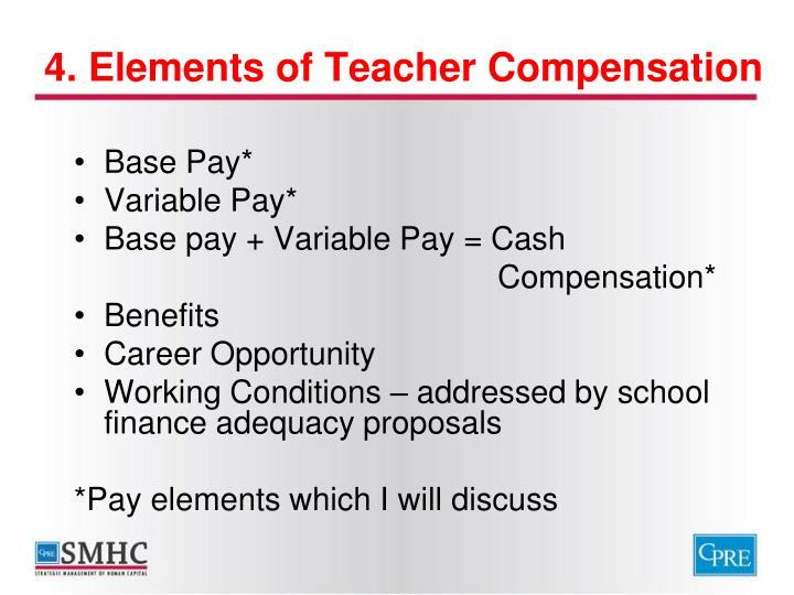 4. Elements of Teacher Compensation