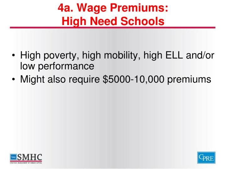 4a. Wage Premiums: