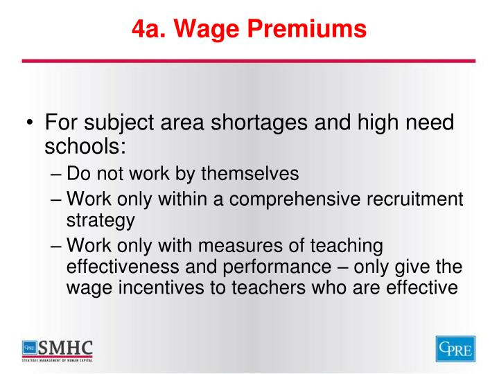 4a. Wage Premiums