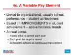 4c a variable pay element