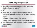 base pay progression