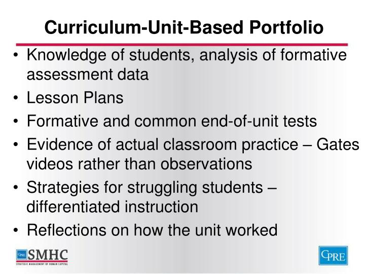 Curriculum-Unit-Based Portfolio