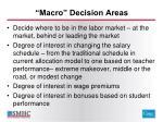 macro decision areas