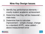 nine key design issues