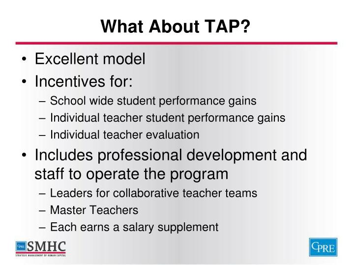 What About TAP?