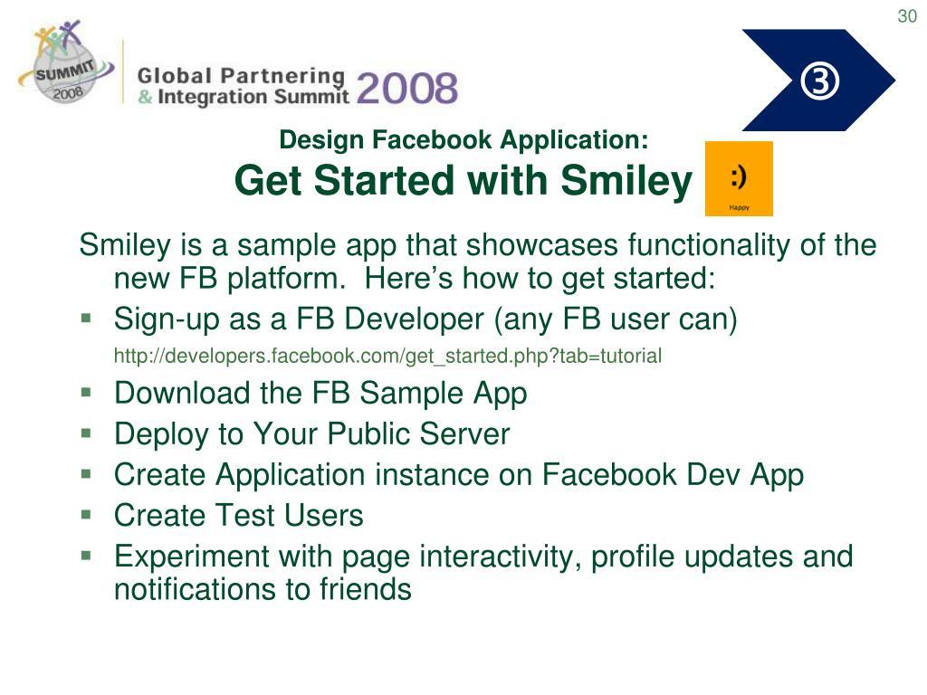 Design Facebook Application: