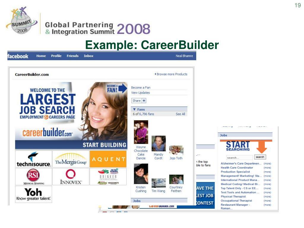 Example: CareerBuilder