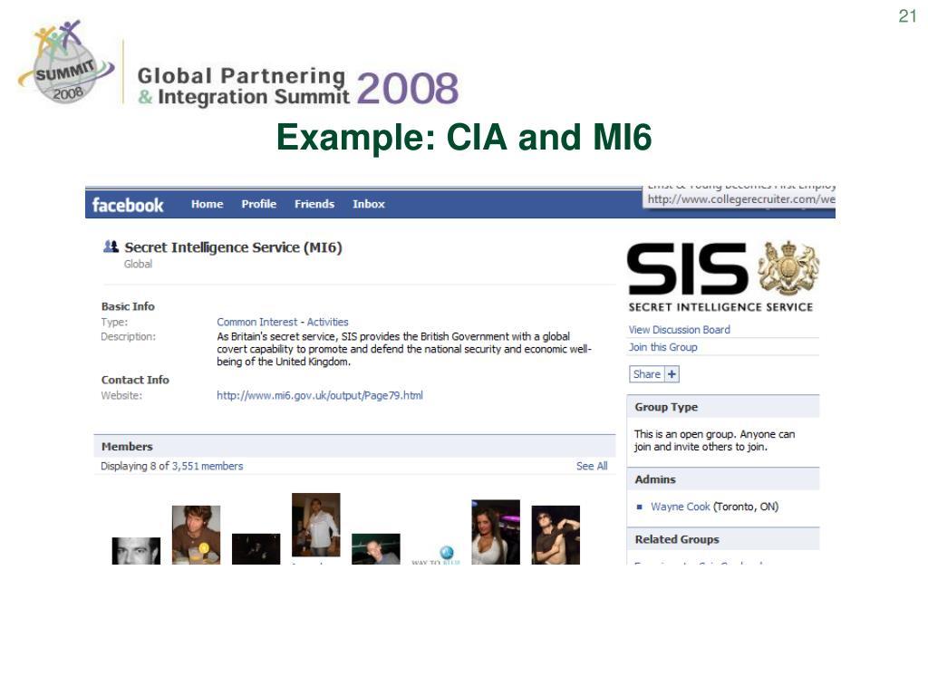 Example: CIA and MI6