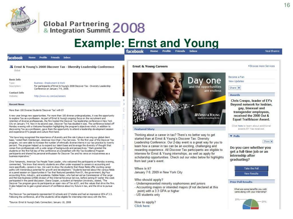 Example: Ernst and Young