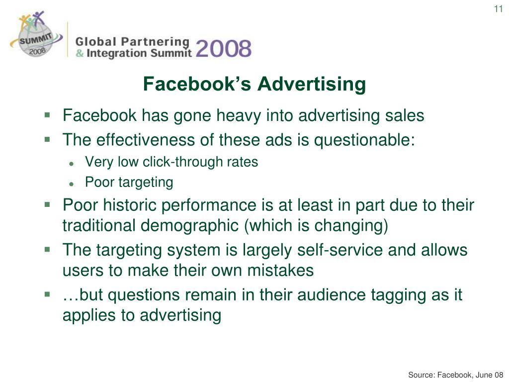 Facebook's Advertising