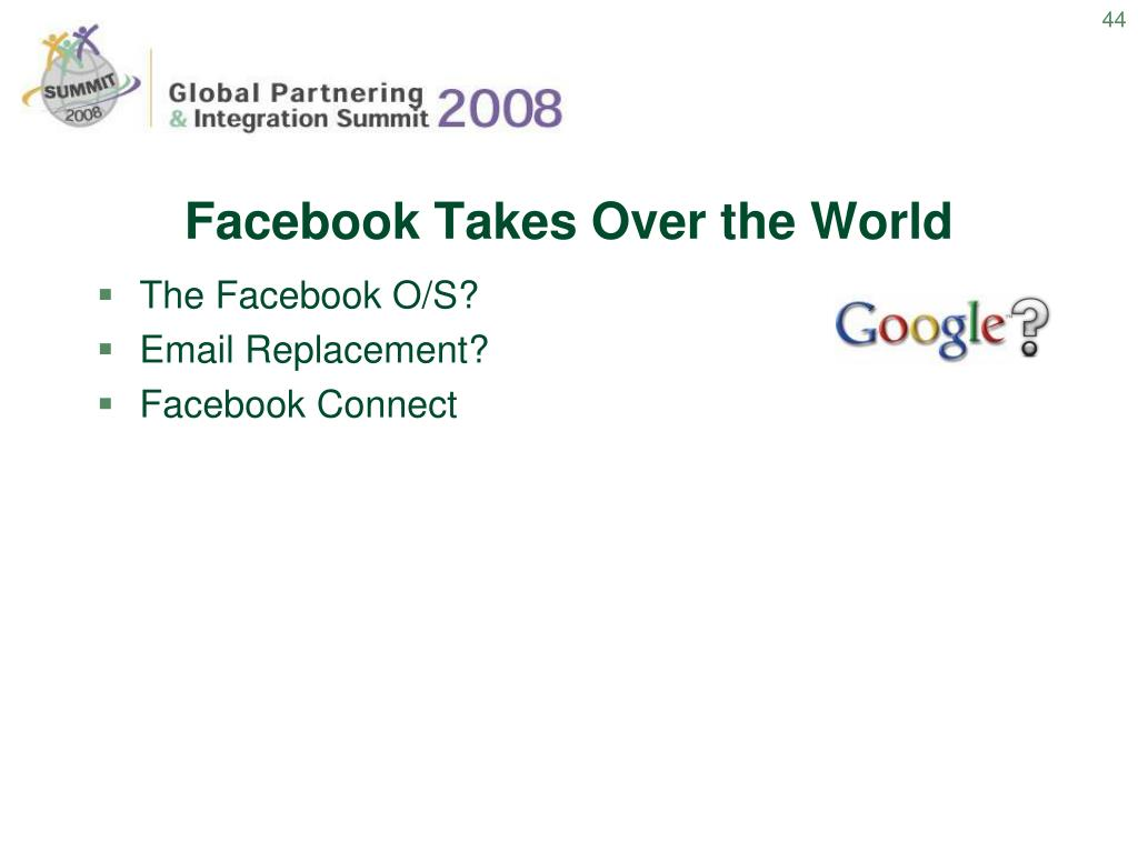 Facebook Takes Over the World