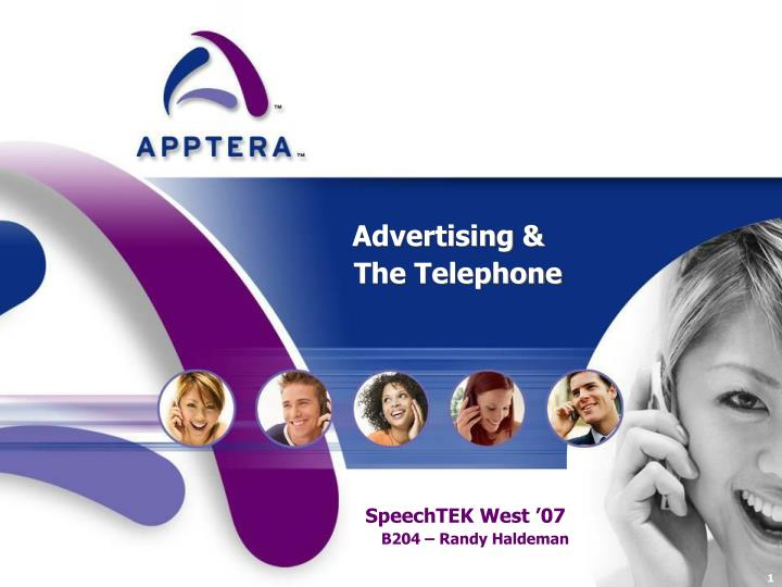 Advertising the telephone
