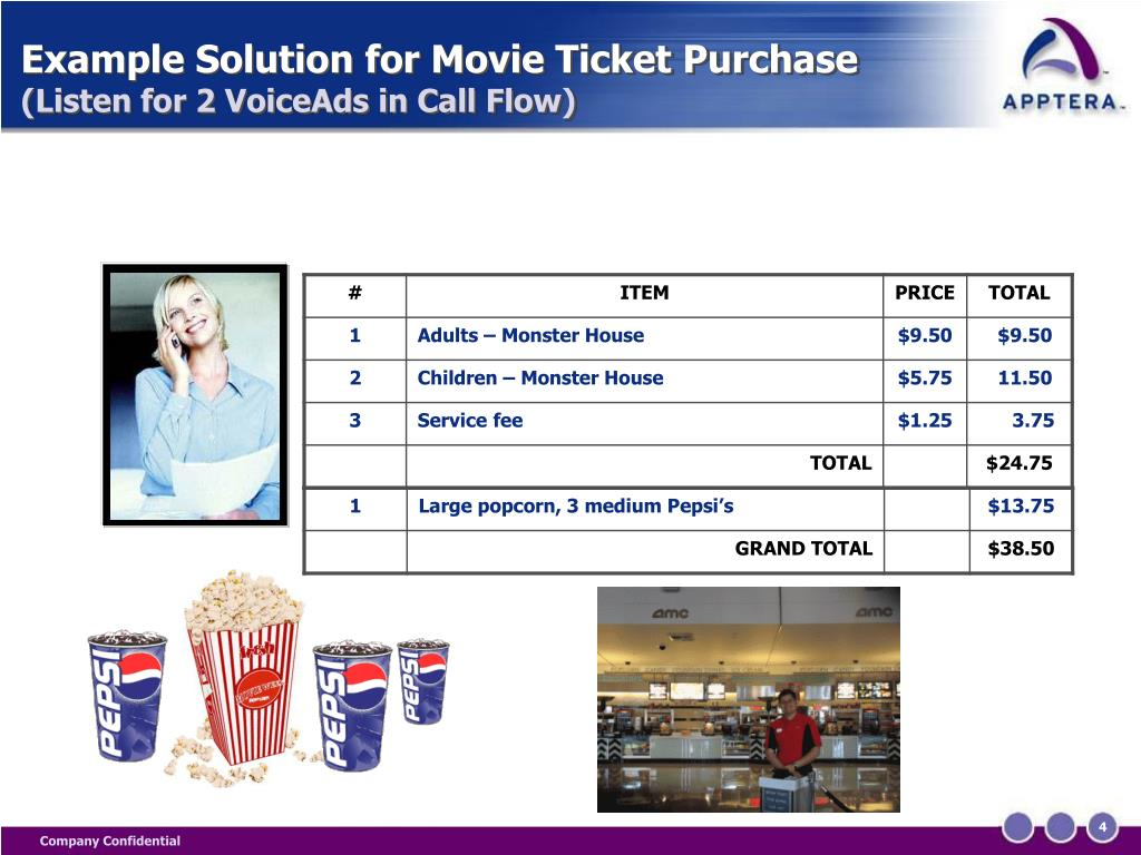 Example Solution for Movie Ticket Purchase