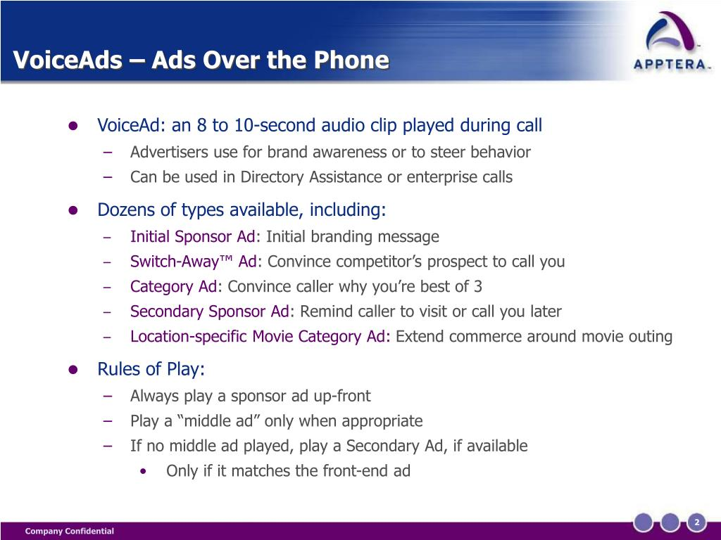 VoiceAds – Ads Over the Phone