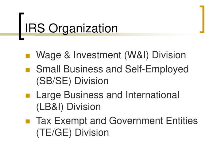 IRS Organization