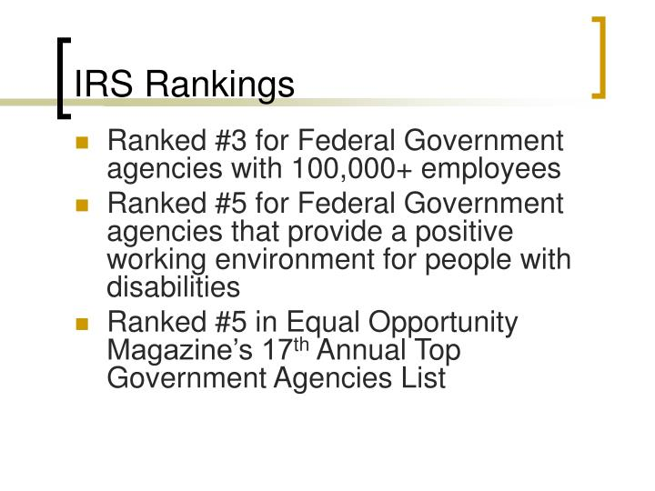 IRS Rankings