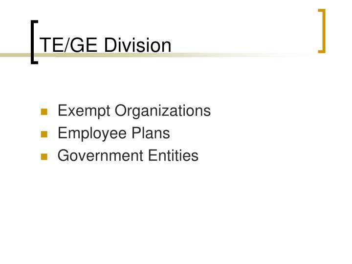 TE/GE Division