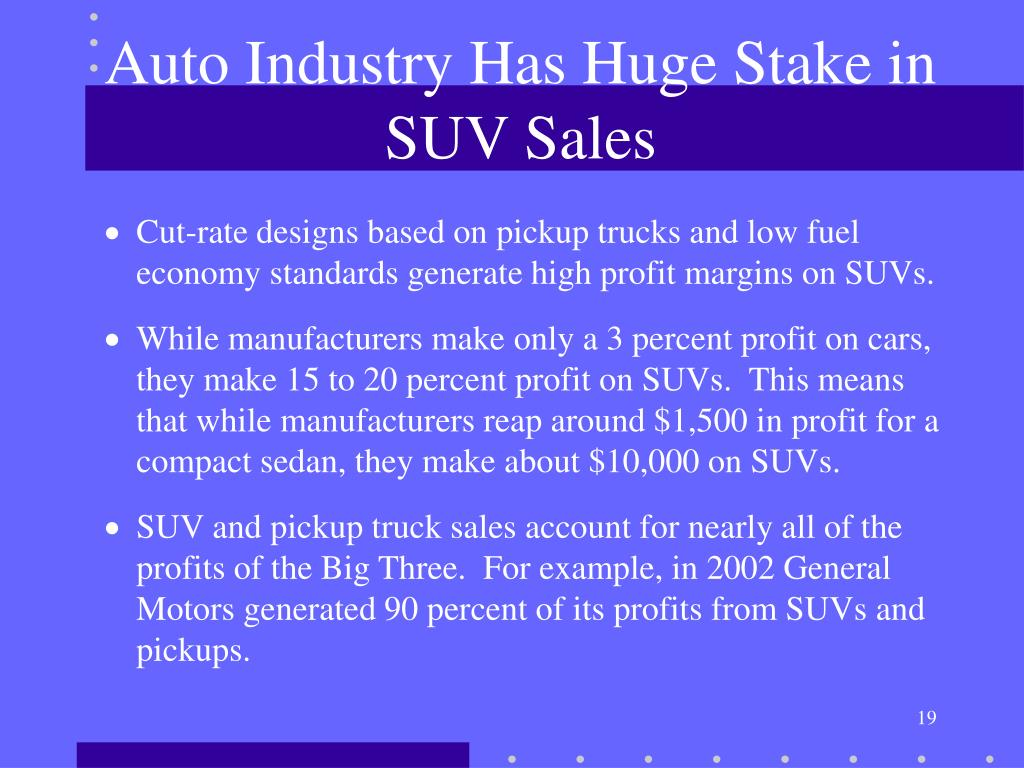 Auto Industry Has Huge Stake in SUV Sales