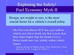 exploring the safety fuel economy myth ii