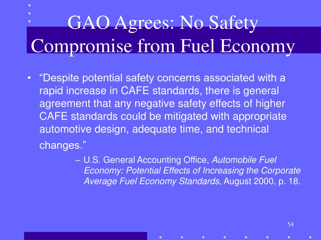 GAO Agrees: No Safety Compromise from Fuel Economy