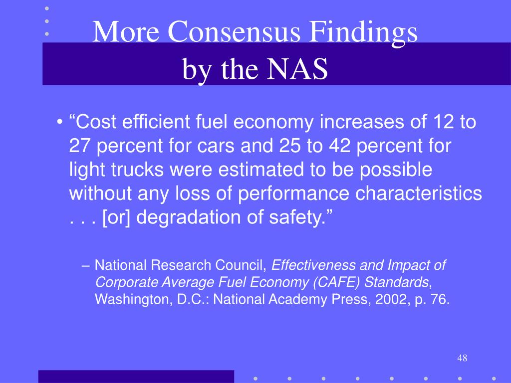 More Consensus Findings