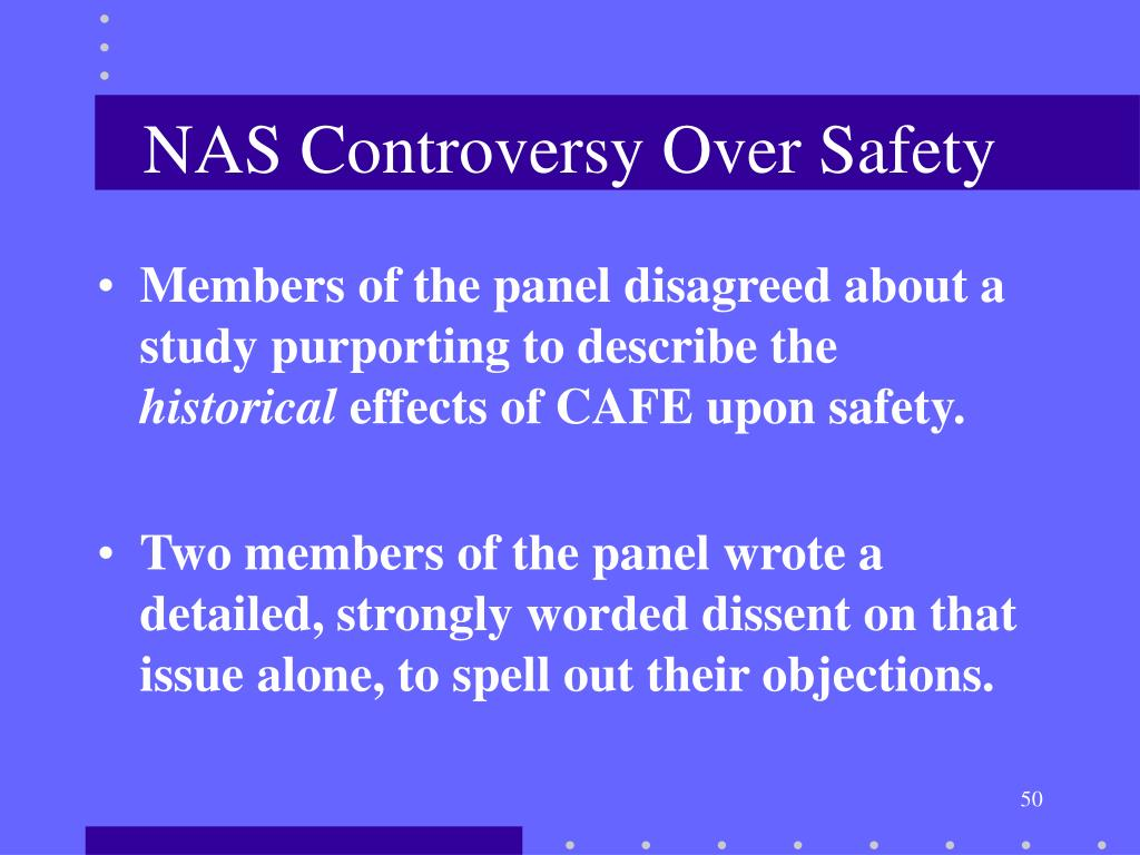 NAS Controversy Over Safety