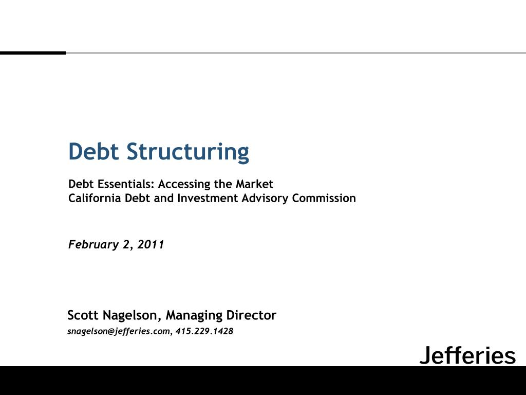 Debt Structuring