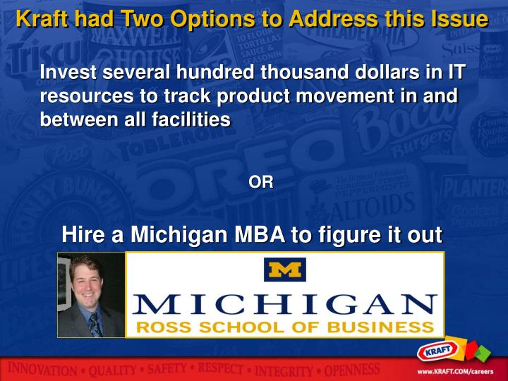 Hire a Michigan MBA to figure it out