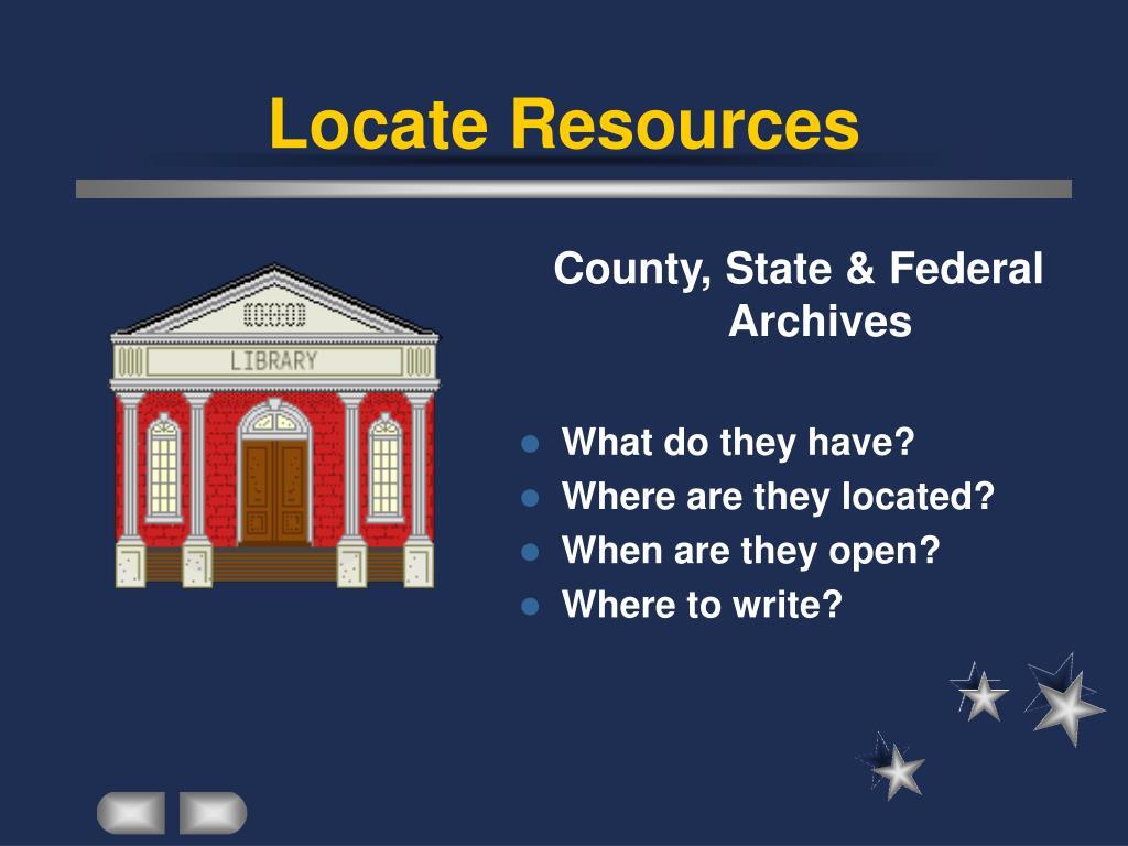Locate Resources