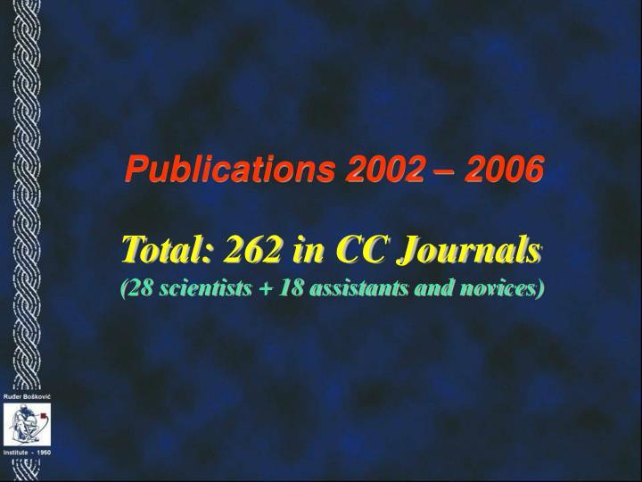 Publications 2002 – 2006