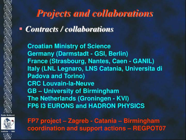 Projects and collaborations