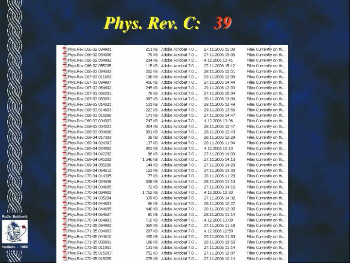 Phys. Rev. C: