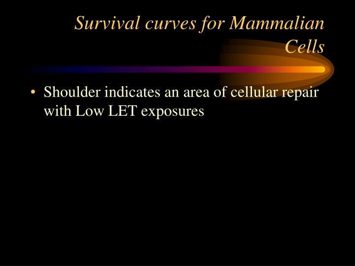 Survival curves for Mammalian Cells