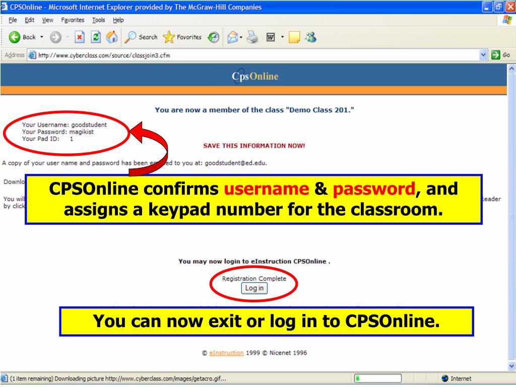CPSOnline confirms
