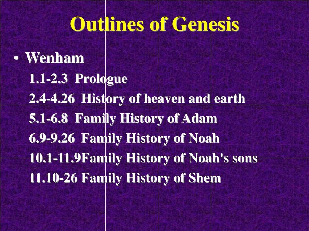 Outlines of Genesis