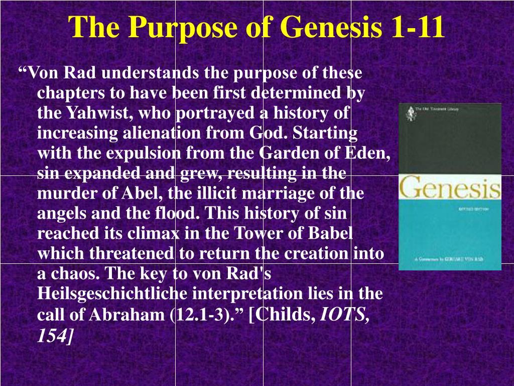 The Purpose of Genesis 1-11
