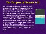 the purpose of genesis 1 11