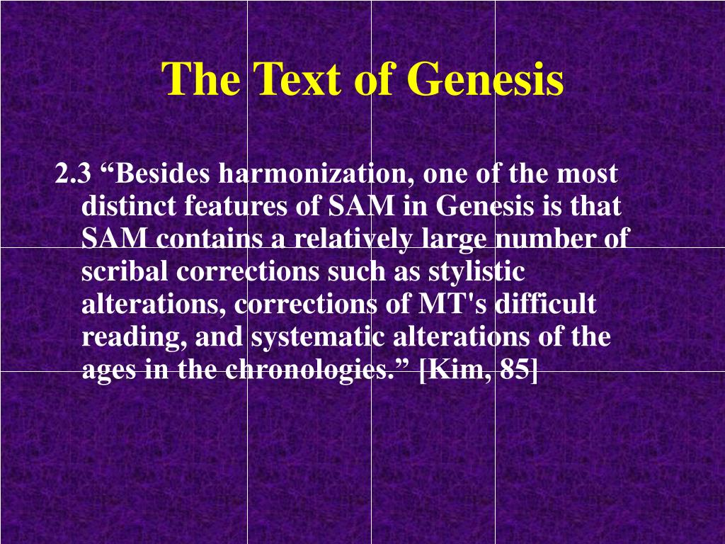 The Text of Genesis