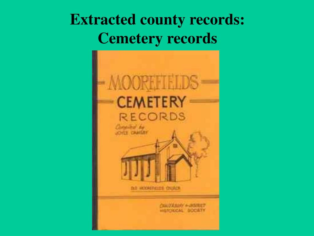 Extracted county records:
