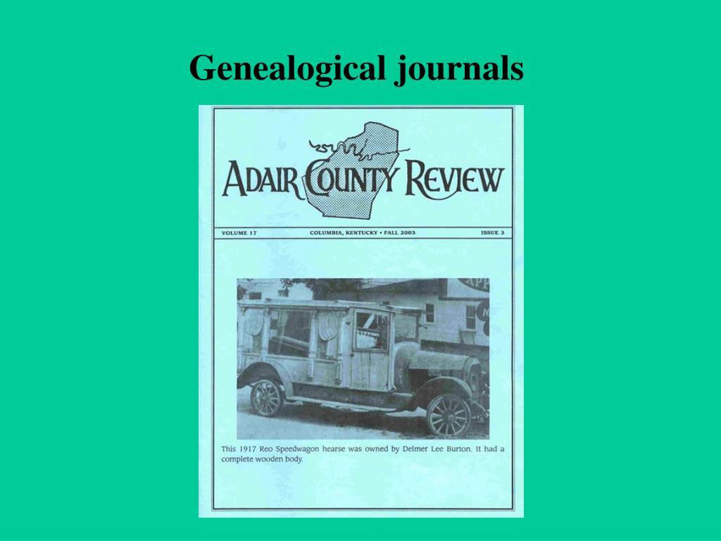 Genealogical journals