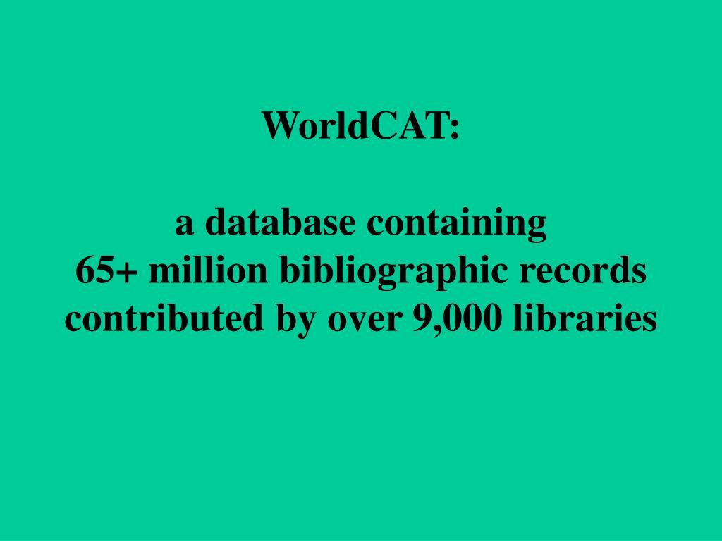WorldCAT: