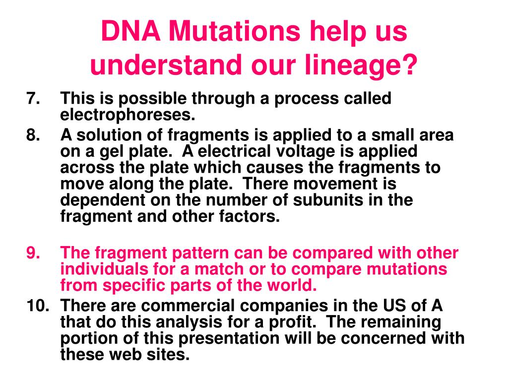DNA Mutations help us