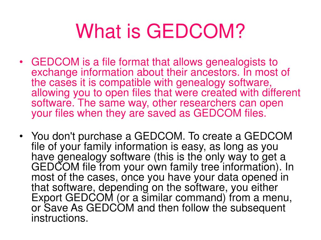 What is GEDCOM?