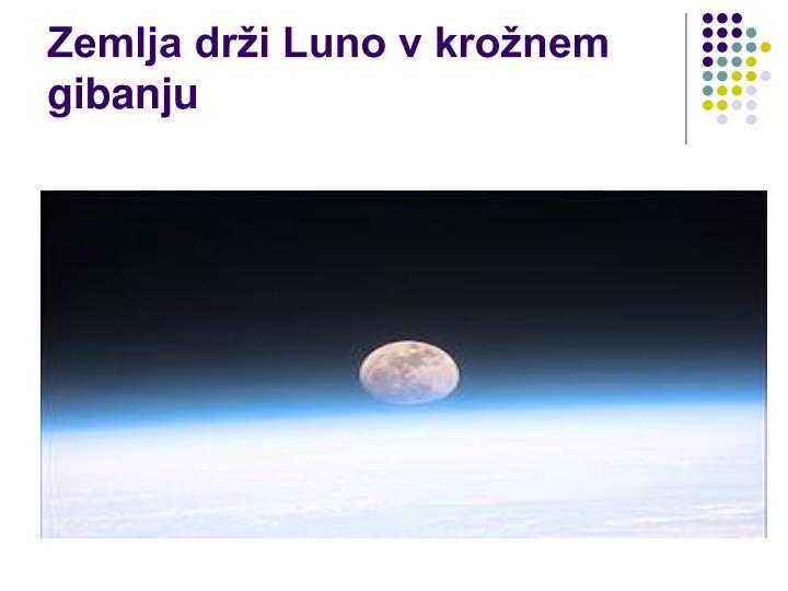 Zemlja drži Luno v krožnem gibanju