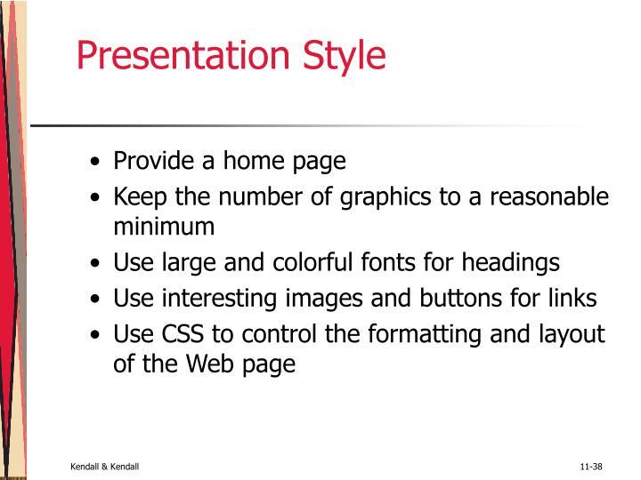 Presentation Style