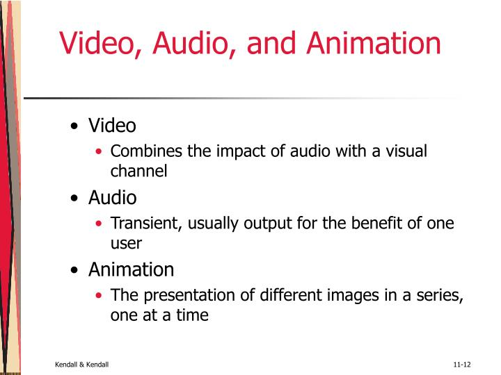 Video, Audio, and Animation